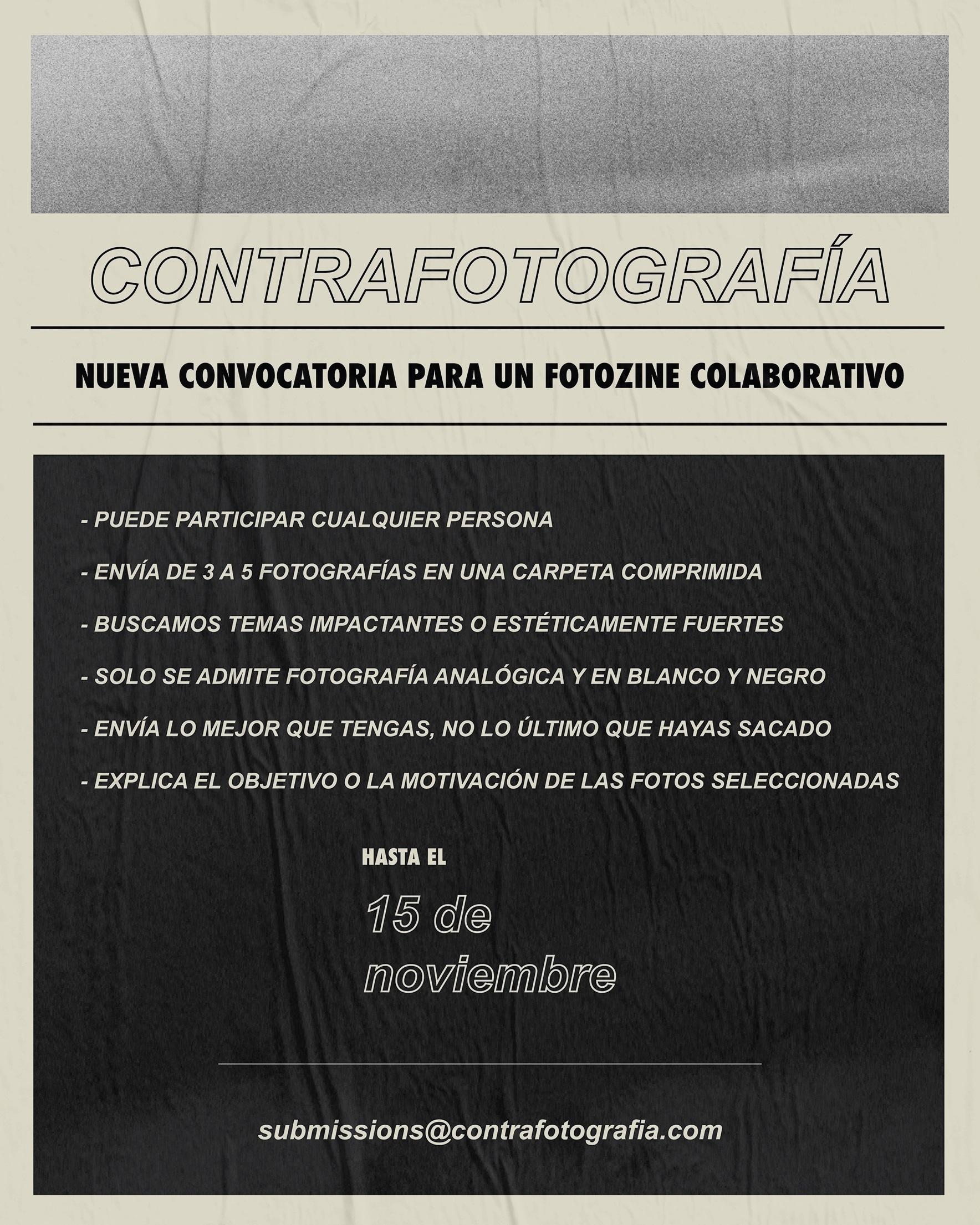 contrafotografia convocatoria fanzine colaborativo 2018